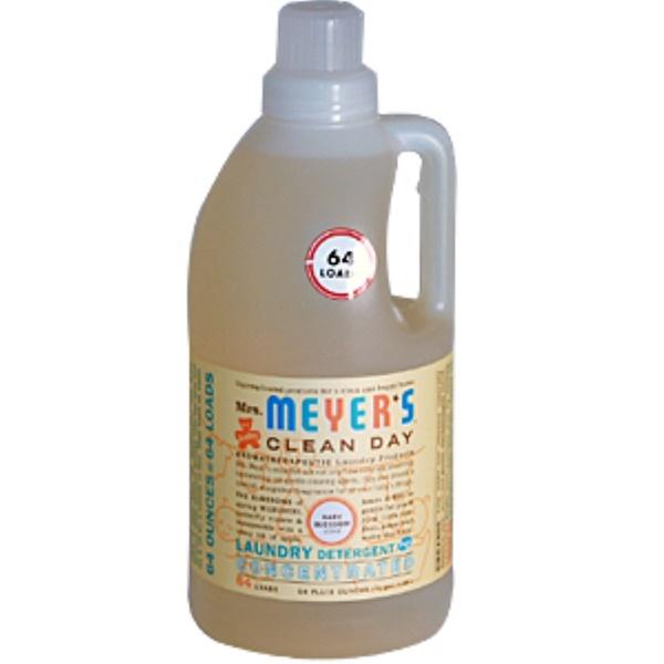 Mrs. Meyers Clean Day, Концентрированное средство для стирки детских вещей, Baby Blossom, 1,89 л (Discontinued Item)