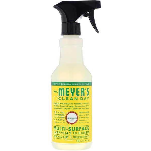 Mrs. Meyers Clean Day, Multi-Surface Everyday Cleaner, Honeysuckle Scent, 16 fl oz (473 ml)