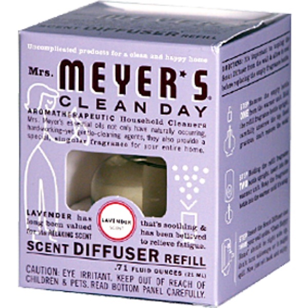 Mrs. Meyers Clean Day, Scent Diffuser Refill, Lavender Scent,  0.71 fl oz (21 ml) (Discontinued Item)