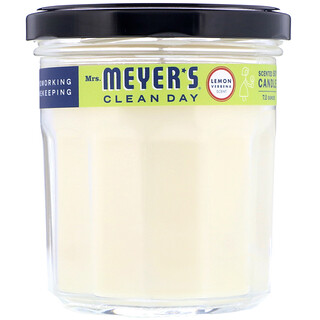 Mrs. Meyers Clean Day, ミセスメイヤーズクリーンデイ, Scented Soy Candle, Lemon Verbena Scent, 7.2 oz