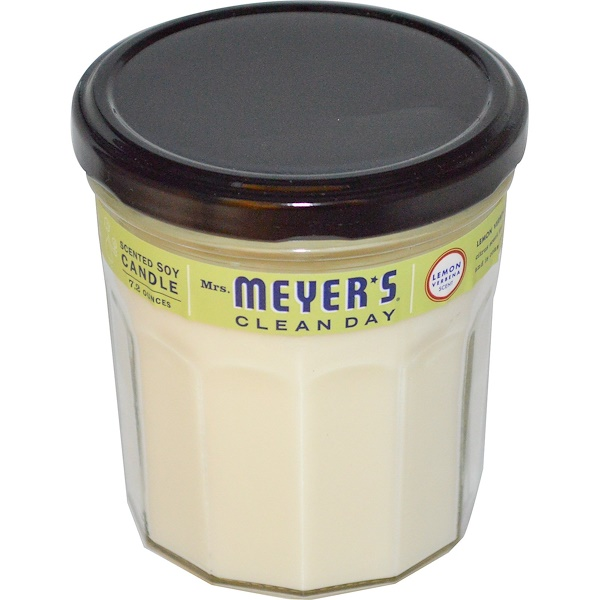 Mrs. Meyers Clean Day, Scented Soy Candle, Lemon Verbena Scent, 7.2 oz