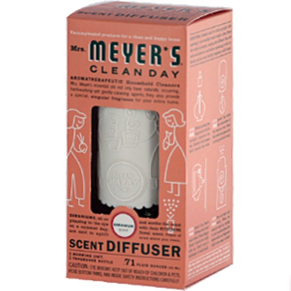 Mrs. Meyers Clean Day, Scent Diffuser, Geranium,.71 fl oz (21 ml), 1 Diffuser (Discontinued Item)