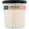 Mrs. Meyers Clean Day, Scented Soy Candle, Geranium Scent, 7.2 oz