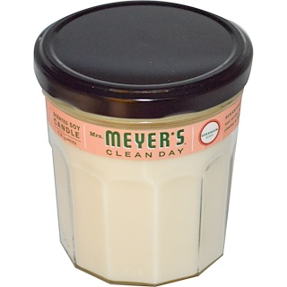 Mrs. Meyers Clean Day, 향 있는 소이 캔들, 제라늄 향, 7.2 온스