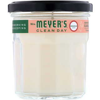Mrs. Meyers Clean Day, Bougie de soja parfumée, géranium, 204 g (7,2 oz)