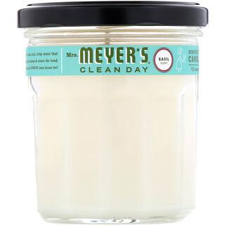 Mrs. Meyers Clean Day, مشتم شمعة الصويا، رائحة الريحان، 7.2 أوقية