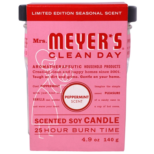 Mrs. Meyers Clean Day, Scented Soy Candle, Peppermint, 4.9 oz (140 g) (Discontinued Item)