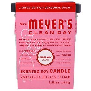 Мрс Мэйерс Клин Дэй, Scented Soy Candle, Peppermint, 4.9 oz (140 g) отзывы покупателей