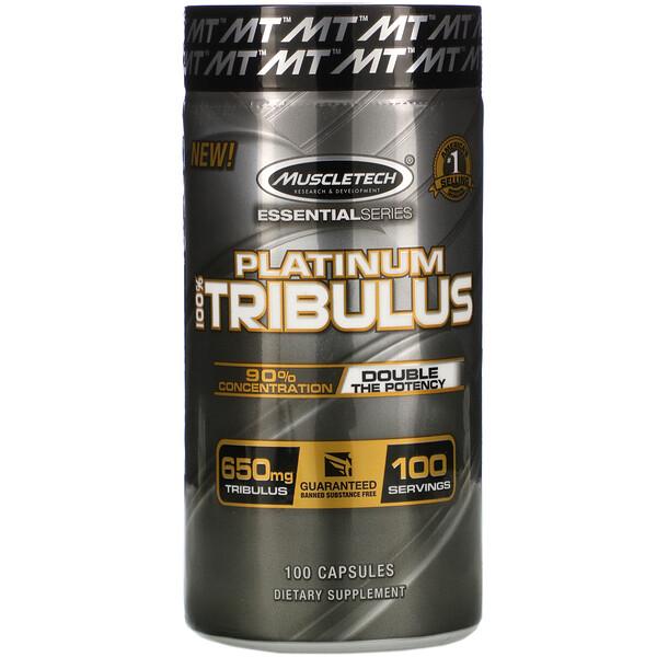 Platinum 100% Tribulus, 650 mg, 100 Capsules