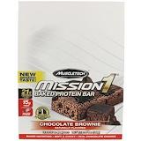Отзывы о Muscletech, Mission1 запеченный протеиновый батончик, шоколадный кекс, 12 батончиков, 2,12 унции каждый (60 г)
