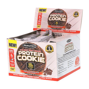 Мусклетек, The Best Soft Baked Protein Cookie, Triple Chocolate, 6 Cookies, 3.25 oz (92 g) Each отзывы покупателей