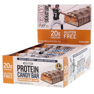 Muscletech, Protein Candy Bar, Chocolate Caramel Peanut, 12 Bars, 2.12 oz (60 g) Each
