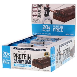 Muscletech, Protein Candy Bar, Chocolate Deluxe, 12 Bars, 2.12 oz (60 g) Each