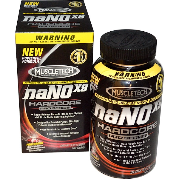 Muscletech, naNOx9 Hardcore, Pro Series, 180 Caplets (Discontinued Item)