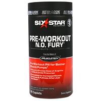 Six Star Pro Nutrition, N.O. Fury, элитная серия, 60 таблеток-капсул - фото
