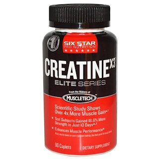 Six Star, Six Star Pro Nutrition, Creatine X3, Elite Series, 60 Caplets