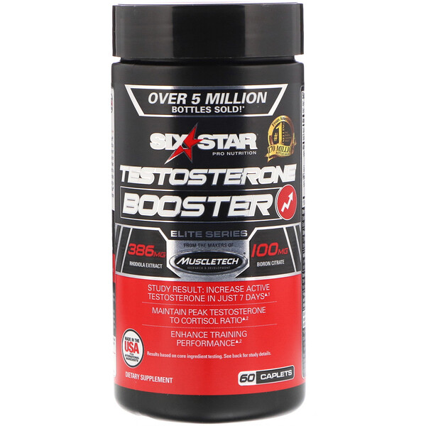Six Star, Elite Series, Testosterone Booster, 60 Caplets