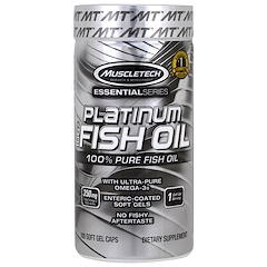 Muscletech, Platinum 100% Fish Oil, 100 Soft Gel Caps