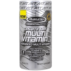 Muscletech, Essential Series, Platinum Multi Vitamin, 90 Caplets