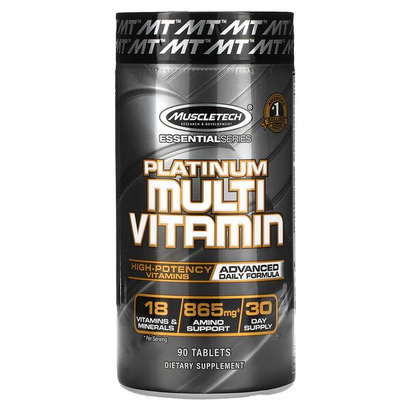 Essential Series, Platinum-Multivitamine, 90Tabletten