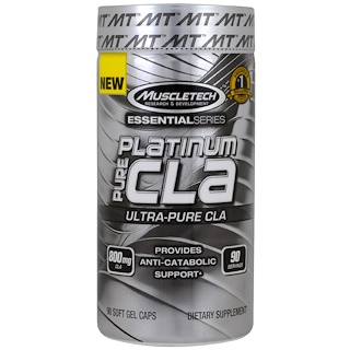 Muscletech, Essential Series, Platinum Pure CLA, 800 mg, 90 Soft Gel Caps