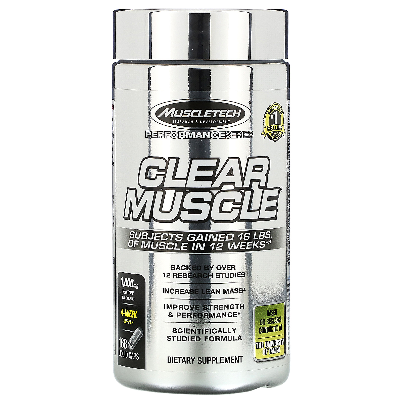 Muscletech, パフォーマンスシリーズ、Clear Muscle(クリアマッスル)、液体カプセル168粒