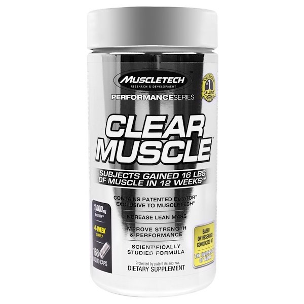 Muscletech, Clear Muscle, 168 Liquid Caps
