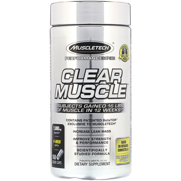 Muscletech, Performance Series, Clear Muscle, 168 Liquid Caps (Discontinued Item)