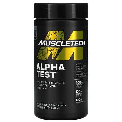 Купить Muscletech Alpha Test, 120 Capsules