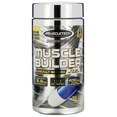 Купить Pro Series, Muscle Builder, 30капсул с быстрым высвобождением