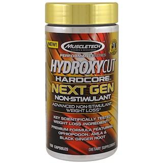 Hydroxycut, سلسلة الأداء، هيدروكسيكوت هاردكور الجيل المقبل الغير منبهة، 150 كبسولة