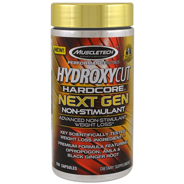 Hydroxycut, Performance Series, Hardcore Next Gen، غير محفز، 150 كبسولة