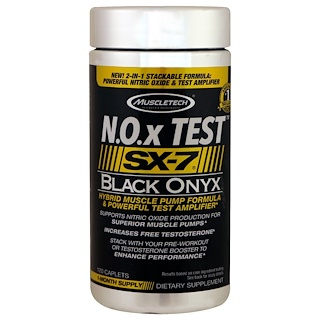Muscletech, N.O.x Test, SX-7, Black Onyx, 120 Caplets