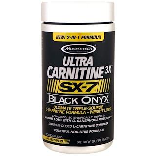 Muscletech, Ultra Carnitine 3X, SX-7, Black Onyx , 120 Caplets