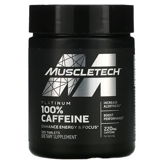 Muscletech, Línea esencial, Cafeína al 100% platino, 220mg, 125comprimidos