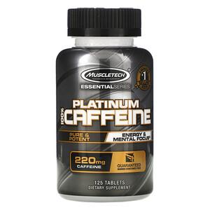 Мусклетек, Essential Series, Platinum 100% Caffeine, 220 mg, 125 Tablets отзывы покупателей