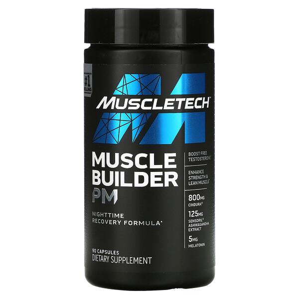 Muscle Builder PM, Nighttime Recovery Formula, 90 Capsules