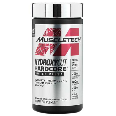 Muscletech Hydroxycut Hardcore, Super Elite, 120 Rapid-Release Thermo Caps  - купить со скидкой