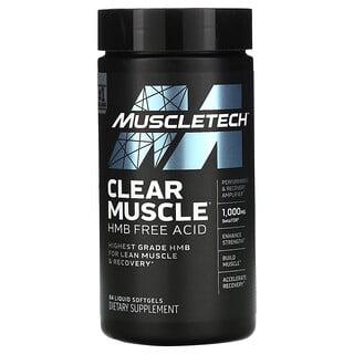 Muscletech, Clear Muscle, HMB, свободная кислота, 84 капсулы с жидкостью