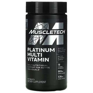 Muscletech, Platinum Multi Vitamin, 90 Tablets