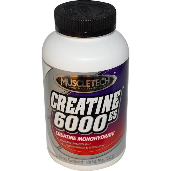 Muscletech, Creatine 6000ES, Creatine Monohydrate, 18 oz (510 g) (Discontinued Item)