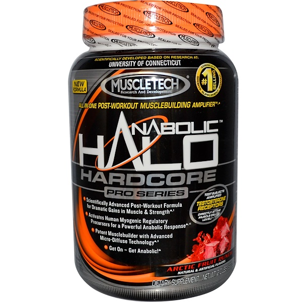 Muscletech, Anabolic Halo Hardcore Pro Series, Arctic Fruit Punch, 2.0 lbs (920 g) (Discontinued Item)