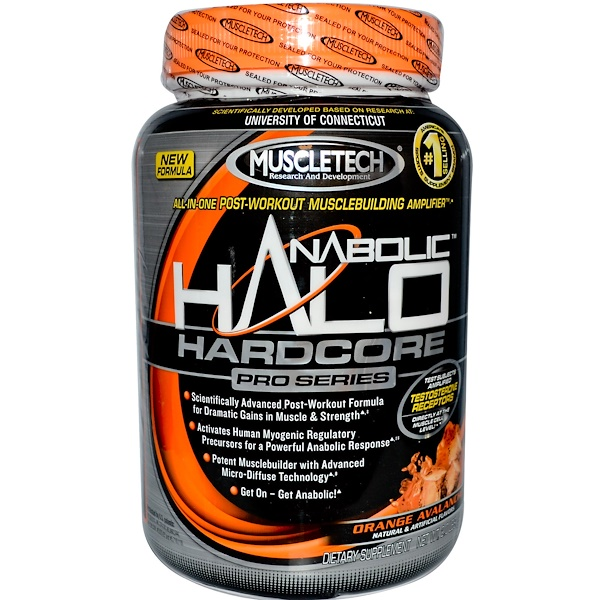 Muscletech, Anabolic Halo Hardcore Pro Series, Orange Avalanche, 2.0 lbs (920 g) (Discontinued Item)