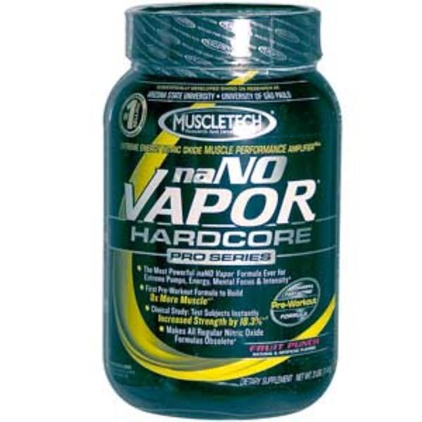 Muscletech, naNO Vapor Hardcore Pro Series, Fruit Punch, 3 lbs (1.4 kg) (Discontinued Item)