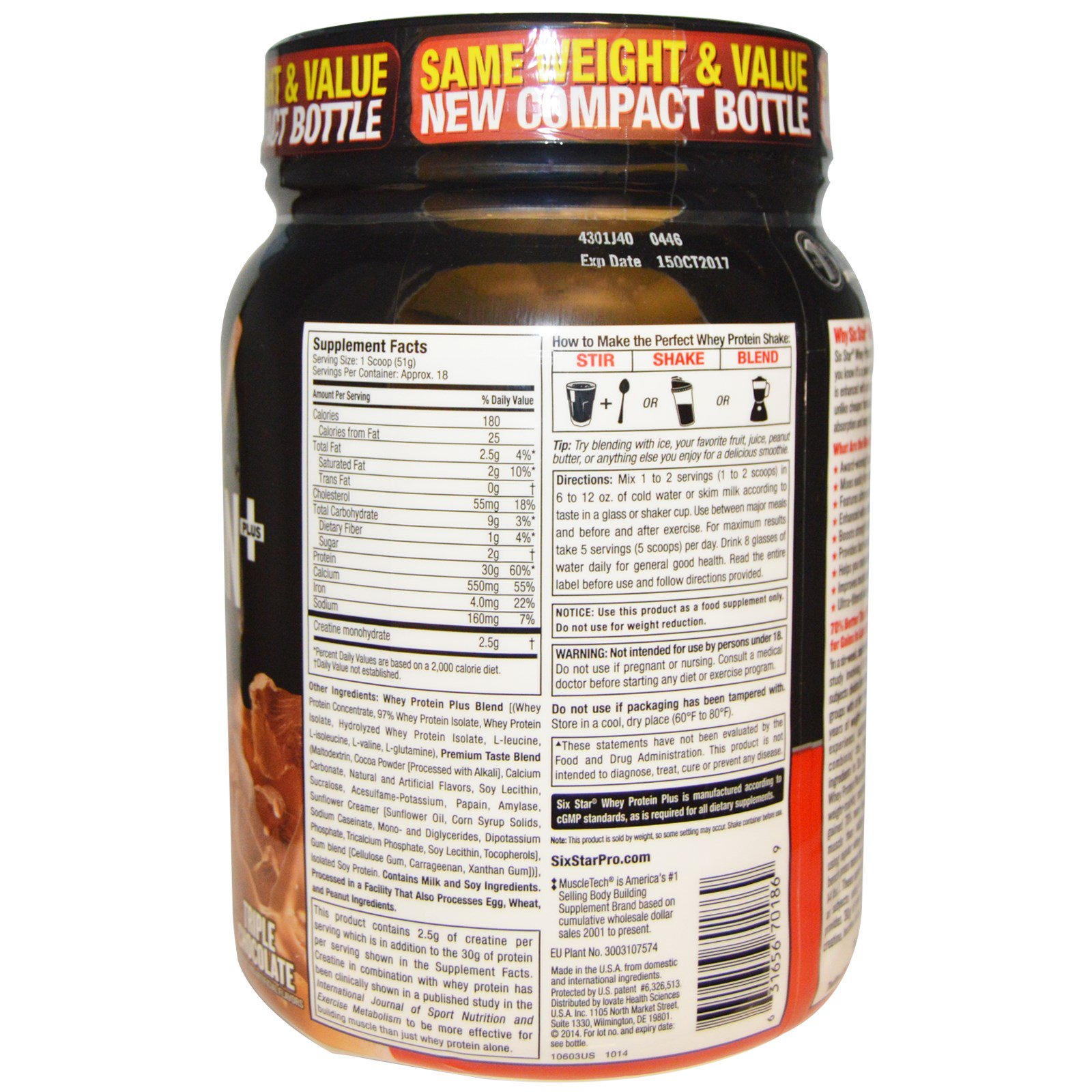 Six Star Pro Nutrition Whey Protein Plus Elite Series Ultimate Prostar 10 Lb Click To Zoom