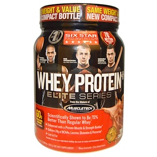 Six Star, Six Star Pro Nutrition, Whey Protein Plus, Elite Series, Triple Chocolate, 2.00 lbs (907 g)