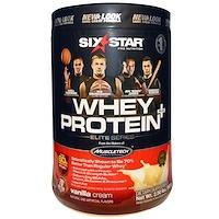 Six Star Pro Nutrition, сывороточный белок +, элитная серия, ваниль и сливки, 2 фунта (907 г) - фото