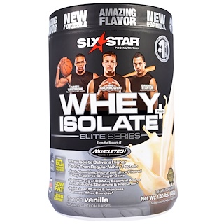Six Star, Six Star Pro Nutrition, Whey Isolate + Plus, Elite Series, French Vanilla, 1.50 lbs (680 g)