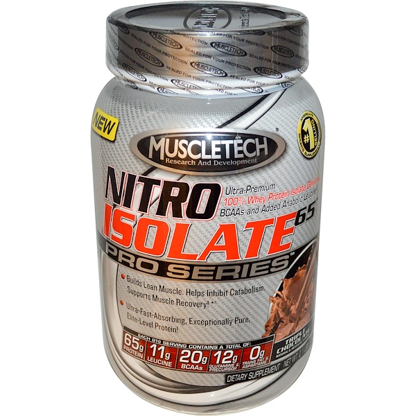 Muscletech, Nitro Isolate 65 Pro Series, Triple Chocolate, 2.1 lbs (932 g) (Discontinued Item)