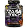 Muscletech, Mass-Tech(マステック)、先進科学技術による筋肉増量用プロテインパウダー、ミルクチョコレート、3.18kg(7ポンド)